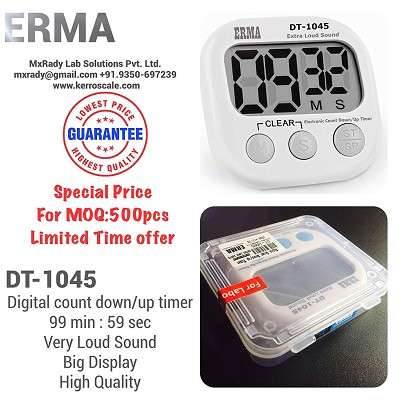 Digital CountDown & CountUp Timer, 99 Minutes: 59 Seconds | ERMA DT-1045