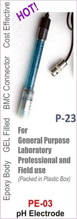 PE-03 pH Electrode with BNC Connector (Gell Filled)
