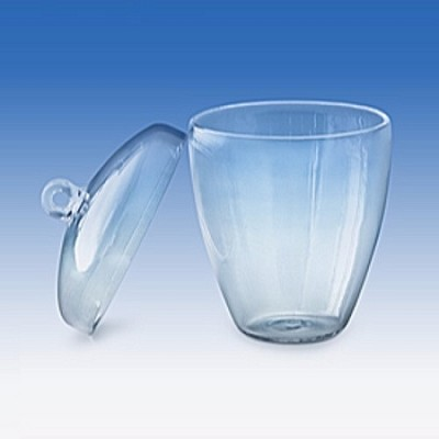 Quartz Low Form Crucible with Lid